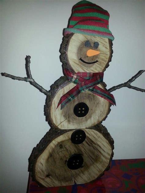 log snowman black walnut christmas handmade  wood