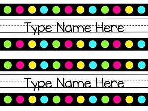 Neon Name Tags by Teachers Oz