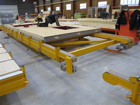 table de montage ossature bois lignes de montage pour maisons ossature bois tables de montage assemblage