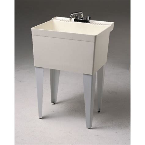 fiat 23 quot x 21 5 quot single floor mounted utility sink
