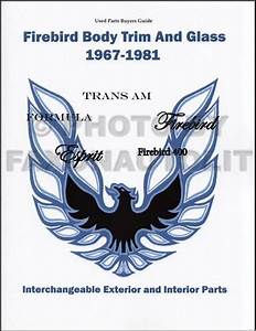Trans Am And Firebird Body Parts Interchange Book 1967