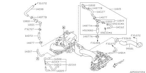 Subaru Intake Manifold Diagram by 99071ae080 Genuine Subaru Hose Vacuum