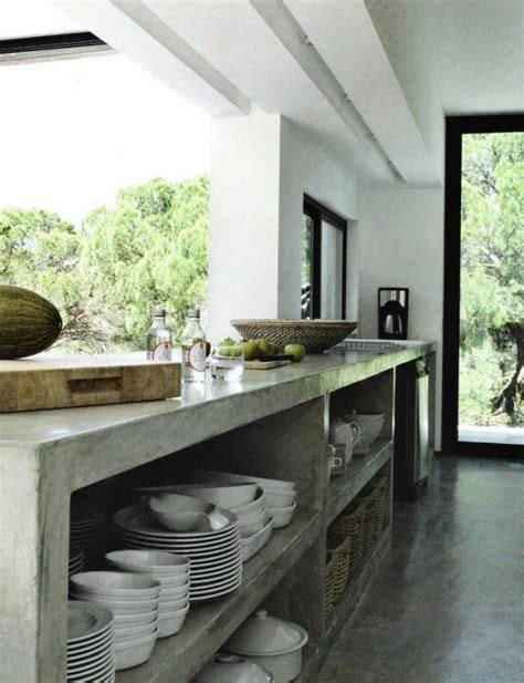 Las cocinas de cemento o concreto son cada vez más