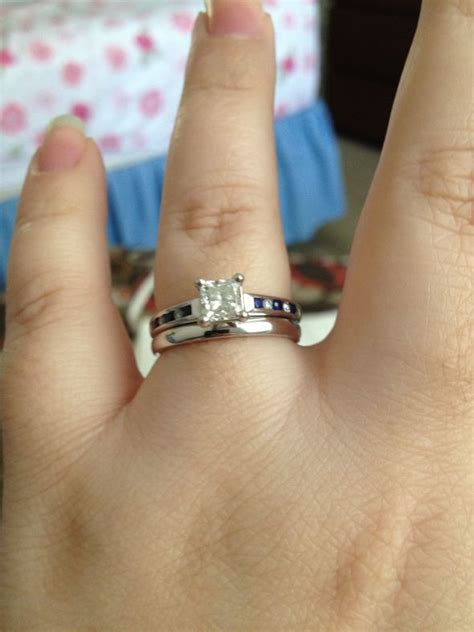 is your wedding band the same thickness as your engagement