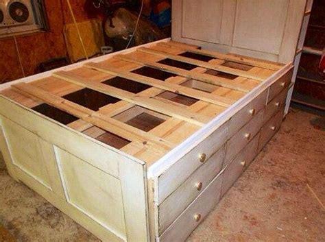 queen platform bed  storage   drawers