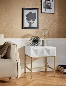 Besteckeinsatz Schublade 50 Cm : leonique beistelltisch minfi mit einer schublade und sch ner schubladenfront breite 50 cm ~ Watch28wear.com Haus und Dekorationen