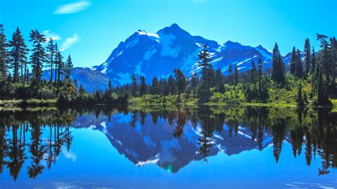 From middle english mount, munt, from old english munt, from latin mons (a hill, mountain), from a root seen also in ēmineō (i project, i protrude) (english eminent). Mount Shuksan Lscape 5K Wallpapers | Wallpapers HD