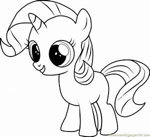 Filly Rarity Coloring Page - Free My Little Pony ...