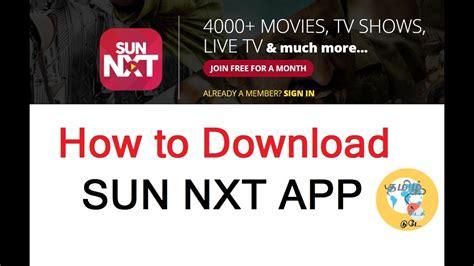 how to sun nxt app desktop version