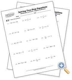 solving two step equations worksheet answers equations