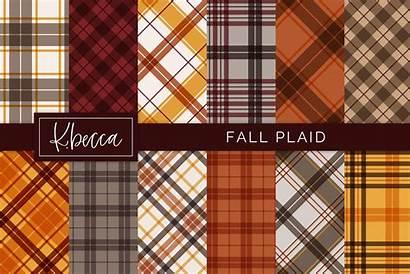 Plaid Patterns Fall Seamless Pattern Designer Follow