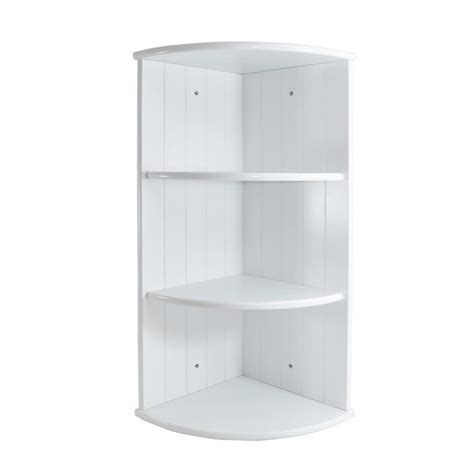 White Wall Shelf Unit by White Shaker Corner Shelving Wooden Unit At Home