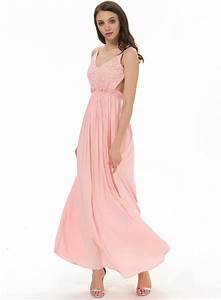 Pink Spaghetti Strap Embroidered Pleated Maxi Dress ...