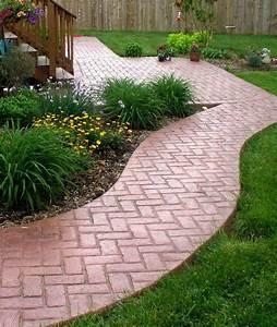 Patio and Walkway Brick Herringbone Red from Greystone