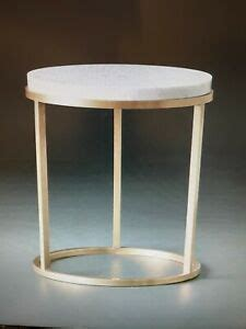 """Clad in marble, a tracery of natural veining lends each table unique character, while a low, inset base makes this monumental piece appear to float. RESTORATION HARDWARE NICHOLAS MARBLE 18"""" ROUND SIDE TABLE NEW in BOX!!!!! 