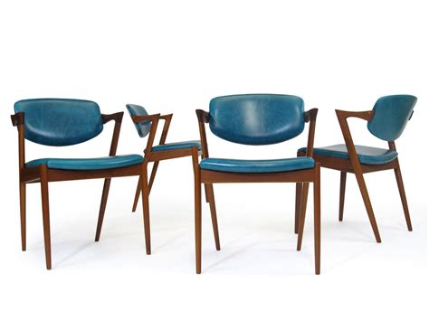 kristiansen z dining chairs in aqua blue leather 24