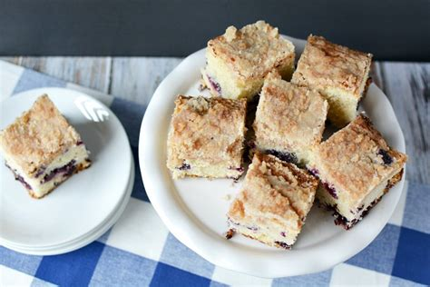 It is great for breakfast or dessert! Easy Blueberry Coffee Cake Recipe - The Rebel Chick