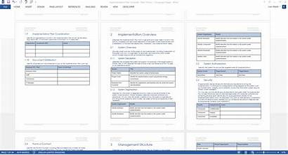 Implementation Template Plan Word Templates Forms Ms