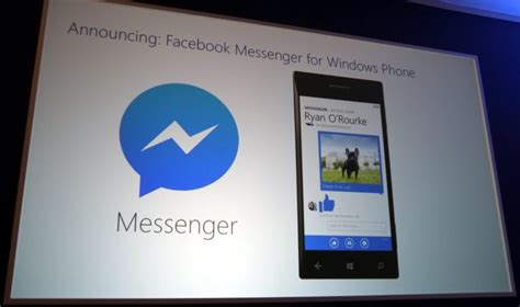 new facebook messenger app will come pre loaded with windows phone 8 1 winsource