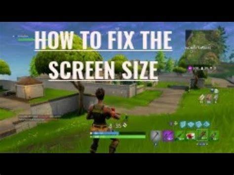 fix fortnite screen size xbox  buzzplscom