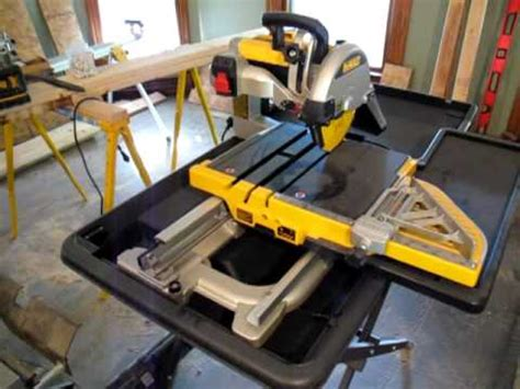 Dewalt Tile Saw Manual by Dewalt D24000 Demo