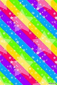 Rainbow Hearts And Stars | Stars on Rainbow Stripes iPhone ...