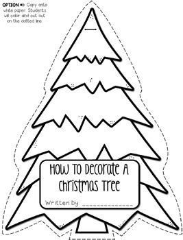 how to shape a christmas tree how to decorate a tree shape book craftivity and writing project