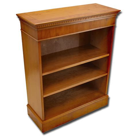 Reproduction Bookcase by Reproduction 37x30 Open Bookcase In Yew Mahogany Oak And