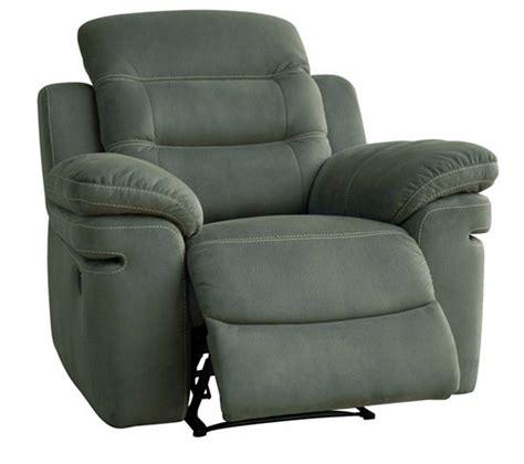 fauteuil relax manuel tiara tissu gris clair fauteuils but