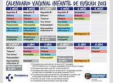 Vacunas Programa de Salud Infantil CS de Olaguibel
