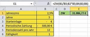 Jahreszins Berechnen Formel : excel zukunftswert und barwert berechnen pcs campus ~ Themetempest.com Abrechnung