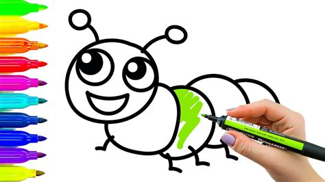 Cartoons For Kids To Draw With Color Art For Kids How To