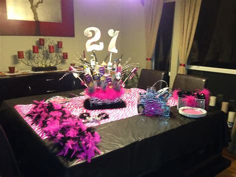21st birthday table setup planning