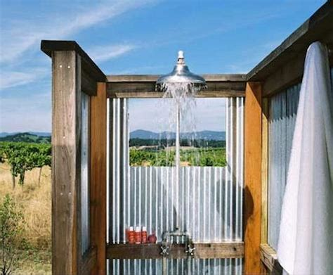 outdoor shower  natures view tiny house pins