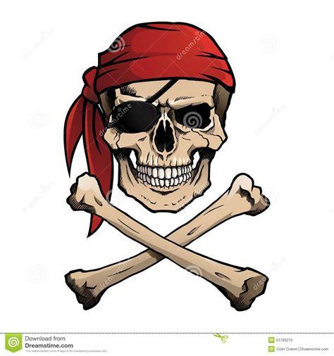 jolly roger pirate skull  crossbones stock vector
