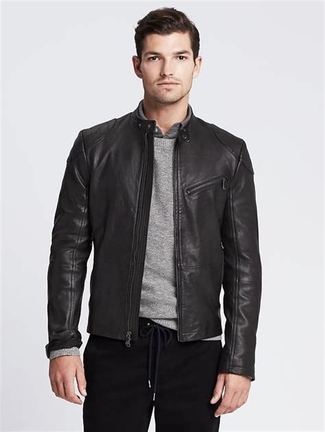 i m getting this black leather moto jacket from banana