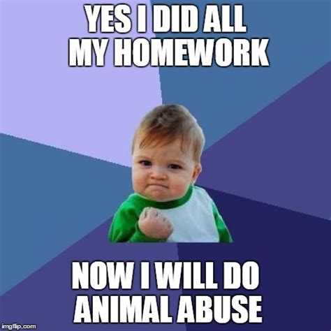 Do All Homework by Success Kid Meme Imgflip