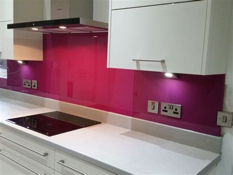 Coloured Glass Splashbacks Image Gallery.