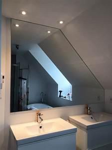 miroirs sur mesure vitrerie verre design With miroir salle de bain sur mesure