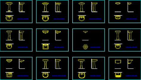 lavatorios en autocad descargar cad gratis  mb