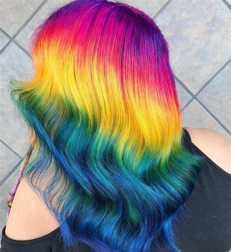 Rainbow Hair Color Artist In Tacoma Wa Hair Colors Ideas