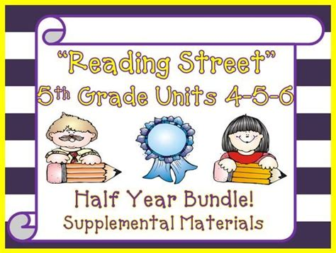 Reading Street 5th Grade Units 456 Bundle Supplemental Materials  Activities, The O'jays And