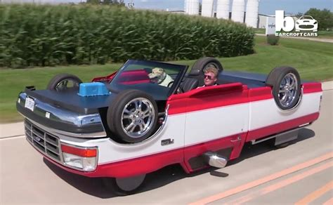 Mans Creates Pickup Truck That Drives Upside Down (video