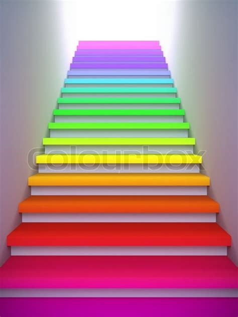 illustration   colorful stair   future