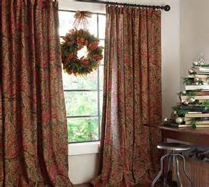 pottery barn outdoor curtains and rods carrie paisley drape pottery barn 230 for two panels