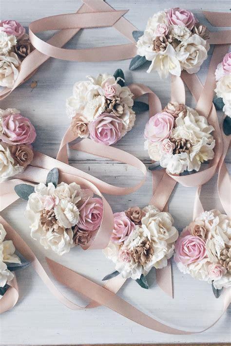 skip  bouquets  beautiful floral bracelets