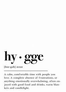 Hygge Definition  Printable Wall Art  Home Decor Gift