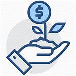 Growing Money Icon Hand Business Dollar Finance