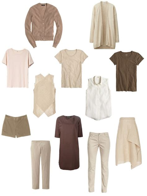 A Summer Common Capsule Wardrobe, In Warm Tones  The
