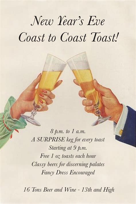 new years toast 16 tons hosts new year s eve coast to coast toast